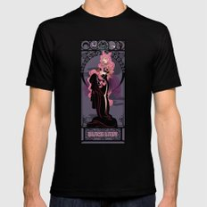 Black Lady Nouveau - Sailor Moon Mens Fitted Tee MEDIUM Black