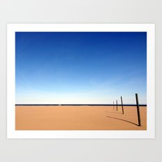 The beach of Valencia is a paint by Dalì Art Print
