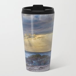 Sunset and God beams - watercolour Travel Mug