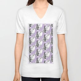 early-purple orchid  Unisex V-Neck