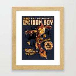 THE INVINCIBLE IRON BOY Framed Art Print