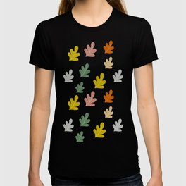 Falling leaves with silver rain T-shirt