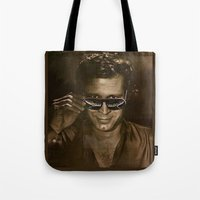 austin Tote Bags featuring austin by domm