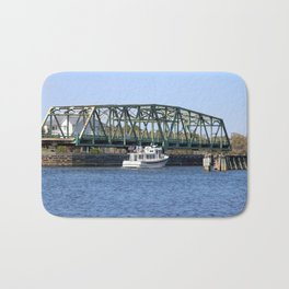 Swing Bridge And Boat Bath Mat