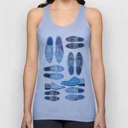 Blue Brogue Shoes Unisex Tank Top