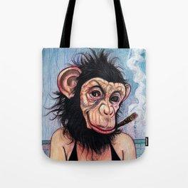 Portrait - Sexy George Burns Monkey Girl  Tote Bag