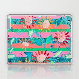 zakiaz flower stripe Laptop & iPad Skin