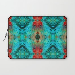 Colorful Patterns - Life Circles - By Sharon Cummings Laptop Sleeve
