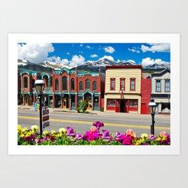 Main Street - Breckenridge Colorado Skyline Art Print