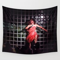 tina Wall Tapestries featuring Sassy Ross as Tina #1 by Mike Thomas Portraiture