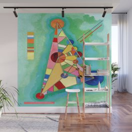 Wassily Kandinsky Multi Colored Triangle Wall Mural