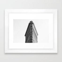 Flatiron Black and White NYC Framed Art Print