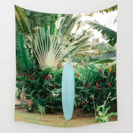 The blue surfboard | Travel photography print | The Dominican Republic Wall Tapestry