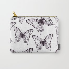 simple butterfly pattern Carry-All Pouch