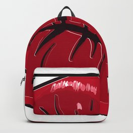Red Lips Mouth Of Kiss Gift Backpack
