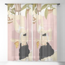 This is life Sheer Curtain