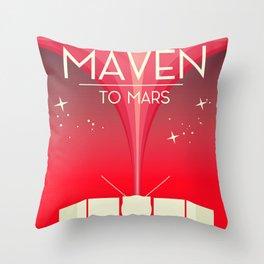 MAVEN - to Mars space art. Throw Pillow