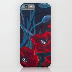Crimson Poppies iPhone 6s Slim Case
