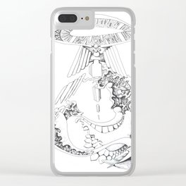 Dragon's eye Clear iPhone Case