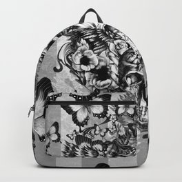 Lost and Found, floral owl with sugar skull Backpack