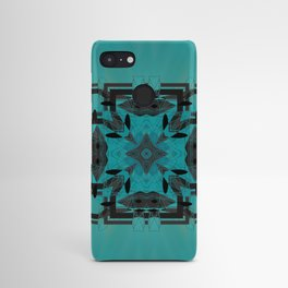 Turquoise Ornate Abstract Design Android Case