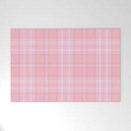 Pink Blush Plaid Pattern Welcome Mat