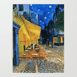 Vincent Van Gogh - Cafe Terrace at Night Poster