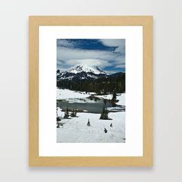Rainier and Tipsoo Lake Framed Art Print