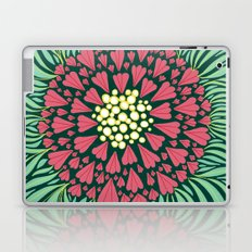 Pink and green florals Laptop & iPad Skin
