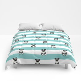 schnauzer stripes dog breed gifts Comforters