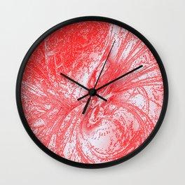 Splatter in Fruit Punch Wall Clock