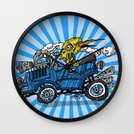 skull car Wall Clock