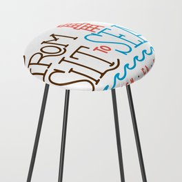 From Silt to Sea | Long Beach California Tribute | From Oil Workers to Surfers Counter Stool