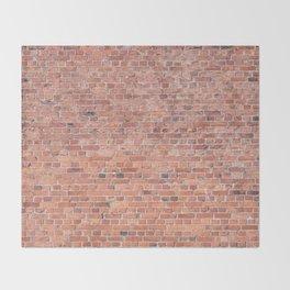 Plain Old Orange Red London Brick Wall Throw Blanket