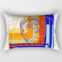Trump is a cunt 80's digital  Rectangular Pillow