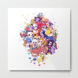 UNDERTALE MUCH CHARACTER Metal Print