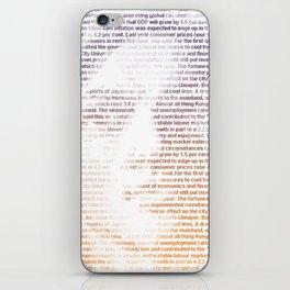 text portrait iPhone Skin