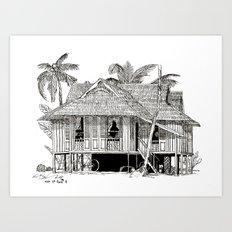 Rumah Kampung Art Print