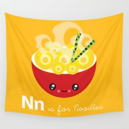 N is for Noodles Wall Tapestry