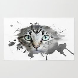 Cat Eyes Watercolor Rug