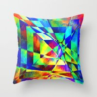 illusion Throw Pillows featuring Illusion. by Assiyam