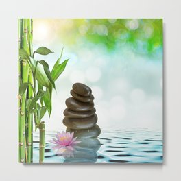 Zen Morning Metal Print