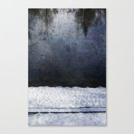 Cold Blue River Canvas Print