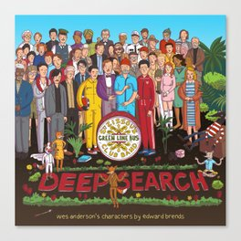 Wes Anderson's Sgt. Pepper Canvas Print