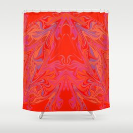 swirling heat 3 Shower Curtain