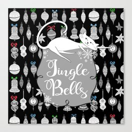 Jingle Bells - Christmas Cats Canvas Print