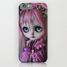 LITTLE OCTOPUS CUSTOM BLYTHE ART DOLL PINK NAVY iPhone Case