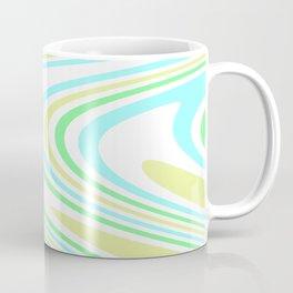 Blue, Yellow, and Green Waves Coffee Mug