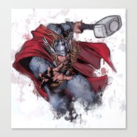 thor Canvas Prints featuring Thor by Isaak_Rodriguez