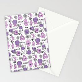 Ouija halloween potions crystal ball witch magic sorcerer pattern by andrea lauren Stationery Cards